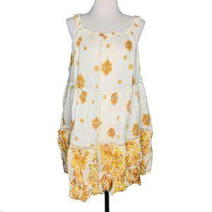 Free People Womens Medium Mini Dress Talk to Me